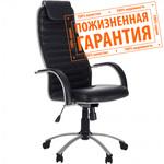 """Кресло для руководителя """"Галакси Ультра"""" (Galaxy Ultra) экокожа №48, матовый хром"""