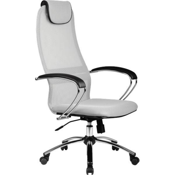 "Кресло для руководителя ""Галакси Лайт"" (Galaxy Light BK-8 Ch), ткань-сетка №24"