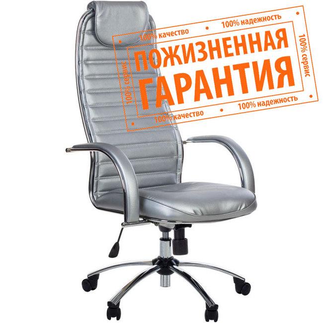 """Кресло для руководителя """"Галакси Ультра"""" (Galaxy Ultra) экокожа №56, глянцевый хром"""