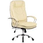 Кресло для руководителя Люкс/LUX-11 Ch | Натуральная перфорированная кожа №720