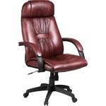 "Кресло для руководителя ""PRADO Black"" Пластик | Кожа №703"