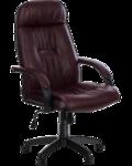 "Кресло для руководителя ""PRADO Black"" Пластик | Кожа №702"