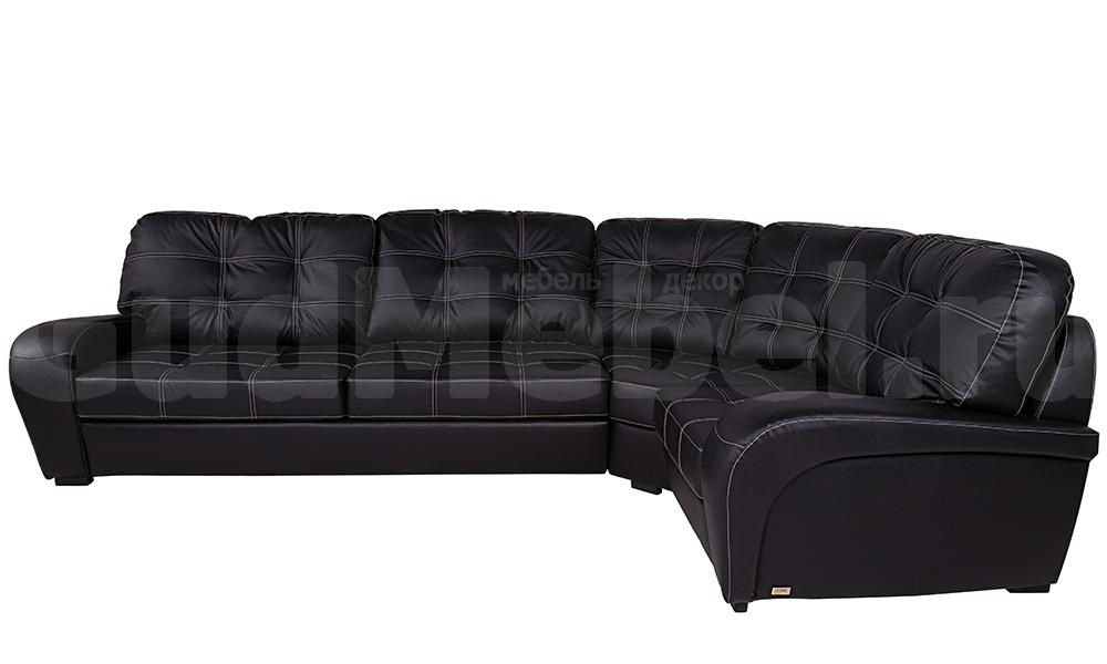 купить диван монреаль угловой натуральная кожа Madras Nero в