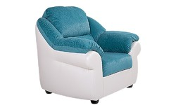 "Кресло ""Вестон"" | Экокожа - Boom ice / Ткань - Soft 176"