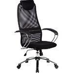 "Кресло для руководителя ""Галакси Лайт"" (Galaxy Light BK- 8 Ch), ткань-сетка №20"