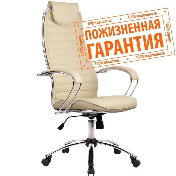 """Кресло для руководителя """"Галакси Ультра"""" (Galaxy Ultra) экокожа №50, глянцевый хром"""