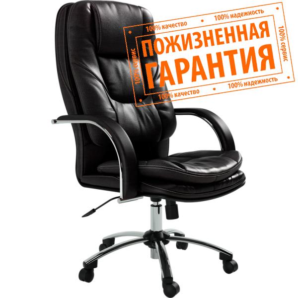 Кресло для руководителя Люкс/LUX-11 Ch | Натуральная перфорированная кожа №721