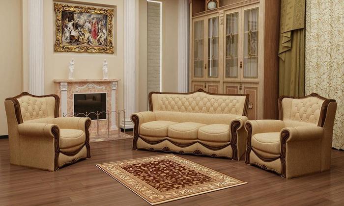 Мягкая мебель Потютьков Босс-4, комплект 3+2+1
