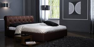 """Кожаная кровать """"Леон"""" Castano"""