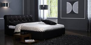 """Кожаная кровать """"Леон"""" Negro"""